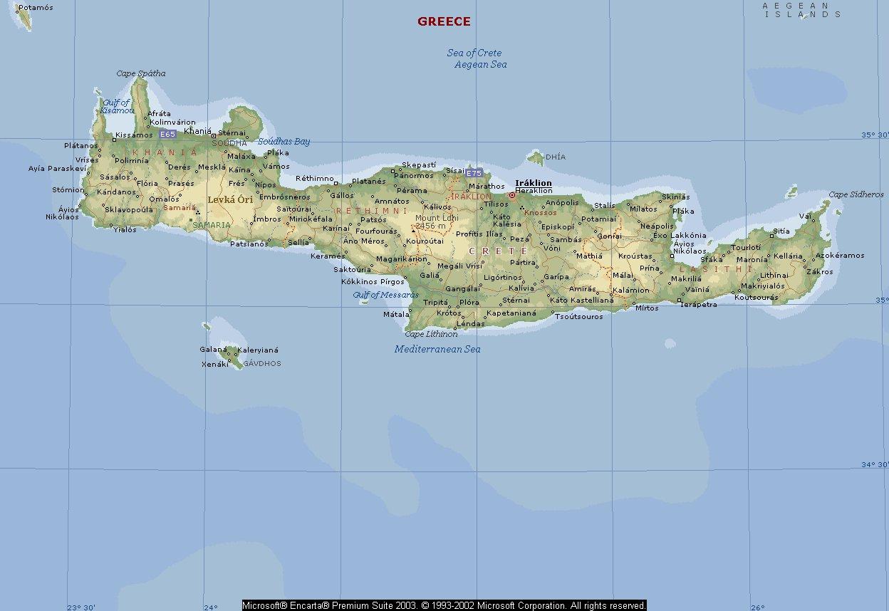 Карта Крита На Русском Языке С Отелями