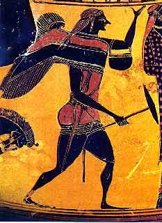 Ο φτερωτός Αρισταίος, λεπτομέρεια από μελανόμορφο αμφορέα του 540 π.Χ.